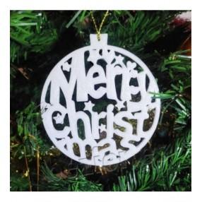 Bola MERRY CHRISTMAS 3D 10 cms
