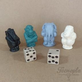 Jumanji figures and dice