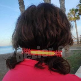Salvaorejas con la bandera de España