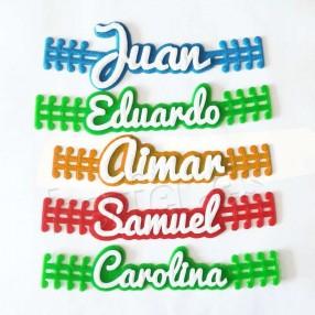 salvaorejas personalizados para mascarillas con nombre o logotipo