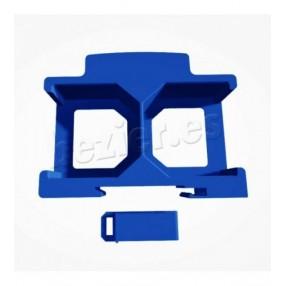 Shelly2.5 soporte shelly doble carril clip impresion 3d